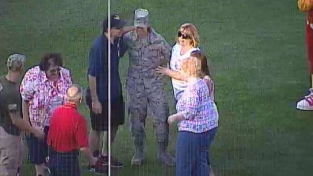 Surprise military homecoming in Rochester