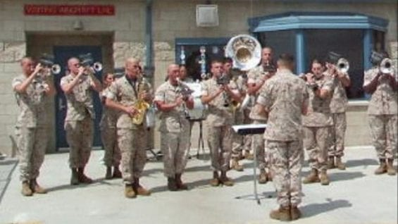 Homecoming of Marines from Iraq