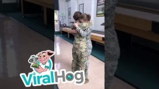 Sister's Military Homecoming Surprise || ViralHog