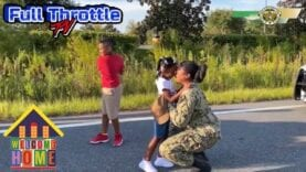 Florida deputies make fake traffic stop to surprise kids with military mom's homecomin