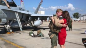 Most HEARTWARMING Military Homecoming – Welcome Home U.S. Fighter Pilots